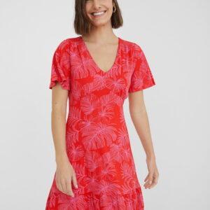 Desigual piros á fazonú ruha Vest Nadia - XS - Desigual✅