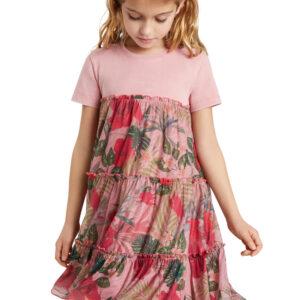 Desigual rózsaszín  lányos ruha Zafiro - 122-128 - Desigual✅
