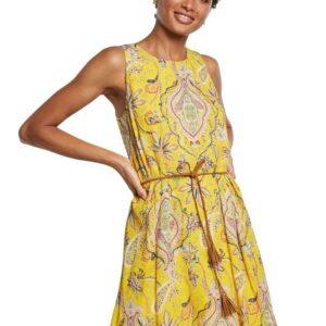 Desigual sárga ruha Vest Adriana - L - Desigual✅