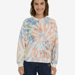 Desigual színes pulóver Dye Mandala - XL - Desigual✅