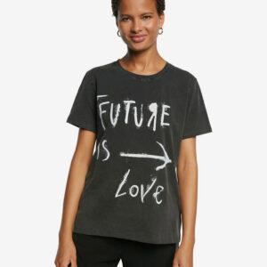 Desigual szürke póló Future - XL - Desigual✅