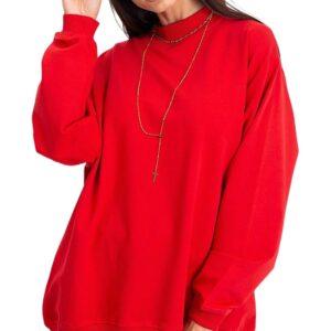Női piros pulóver✅ - Basic