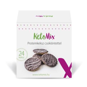 Proteinkeksz csokiöntettel (24 keksz) - Proteindús ételek KETOMIX
