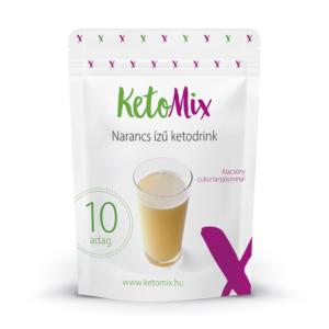 Narancsízű ketodrink (10 adag) - Proteindús ételek KETOMIX