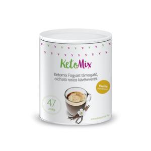 Fogyást támogató instant kávé - vaníliaízű (47 adag) - Proteindús ételek KETOMIX
