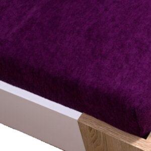 Homa frottír gumis lepedő lila 60x120cm